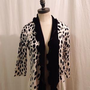 Nieman's marcus cheetahs print cardigan sz m
